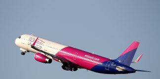 Wizz Air plane taking off