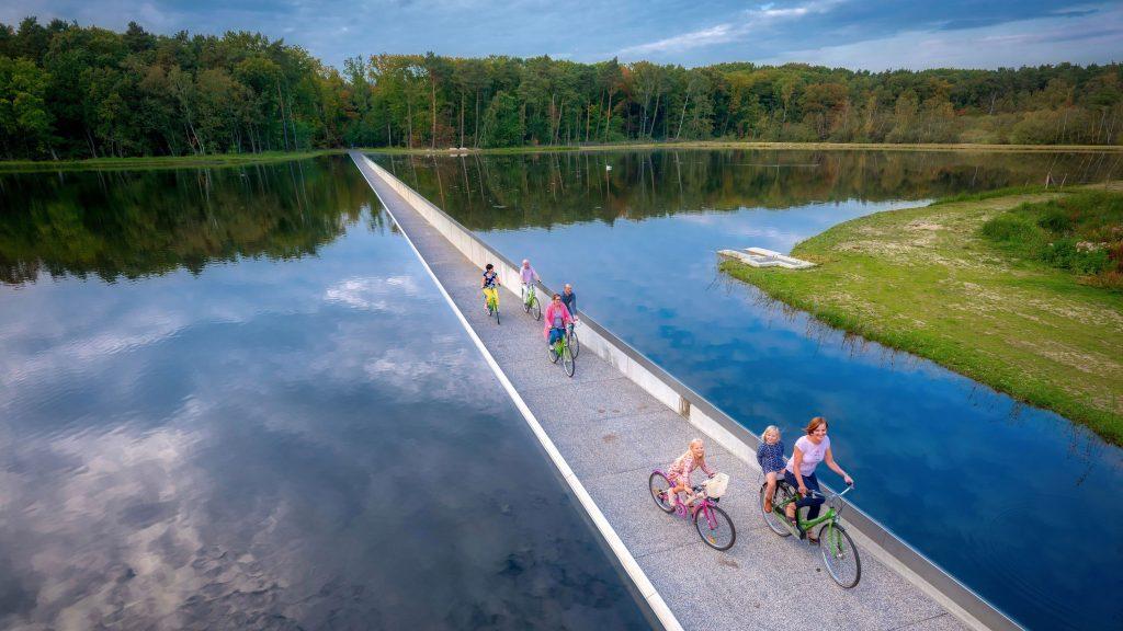 Cycling Through Water - Genk