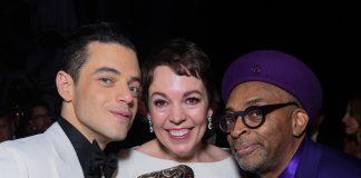 Rami Malek, Olivia Colman and Spike Lee with their BAFTAs