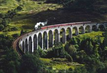 Glenfinnan Viaduct in United Kingdom