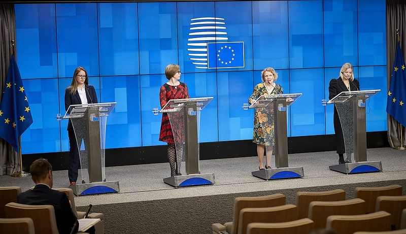 Announcement during a press conference in Brussels on December 10