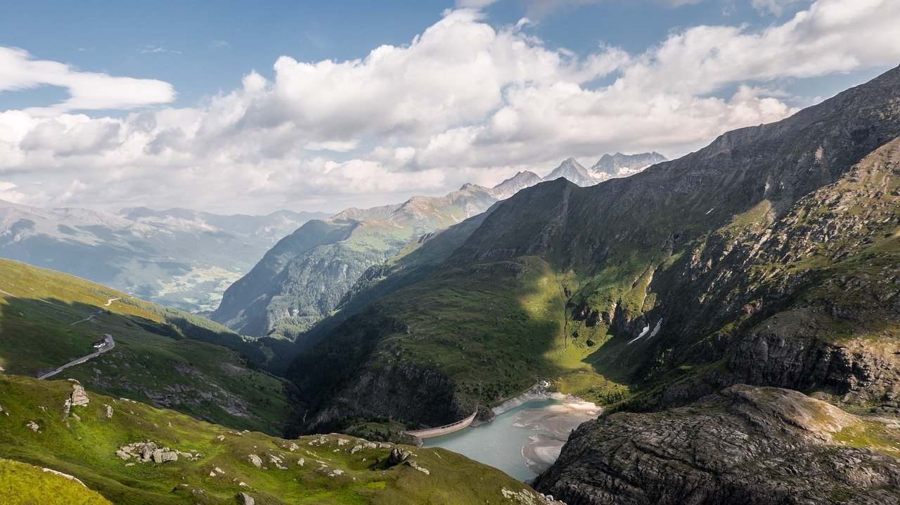 Landscape on the Grossglockner High Alpine Road
